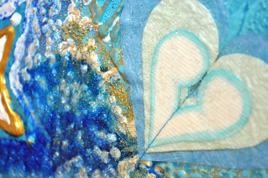 Dreiklang auf Wasser / Ausschnitt Herz